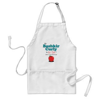 My Bashkir Curly is All That! Funny Horse Standard Apron