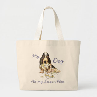 My Basset Ate My Lesson Plan Jumbo Tote Bag