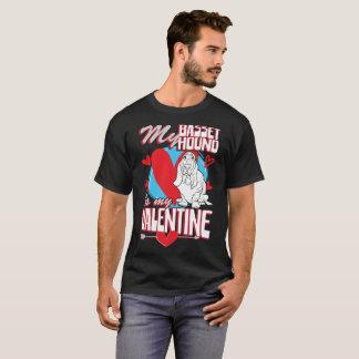 My Basset Hound Is My Valentine Funny Dog T-Shirt