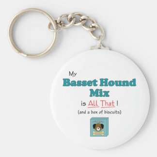 My Basset Hound Mix is All That! Key Ring