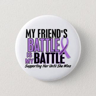 My Battle Too 1 Friend (Female) Hodgkin's Lymphoma 6 Cm Round Badge