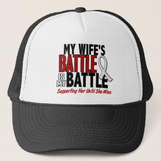 My Battle Too 1 Wife BONE / LUNG CANCER Trucker Hat