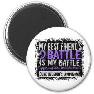 My Battle Too 2 Best Friend Male H Lymphoma Magnets