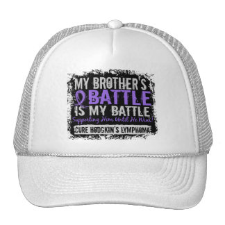 My Battle Too 2 Brother Hodgkins Lymphoma Mesh Hat