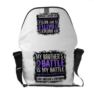 My Battle Too 2 Brother Hodgkins Lymphoma Messenger Bags