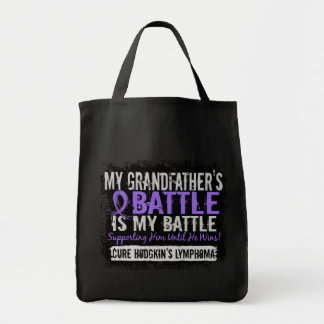 My Battle Too 2 Grandfather Hodgkins Lymphoma Canvas Bags