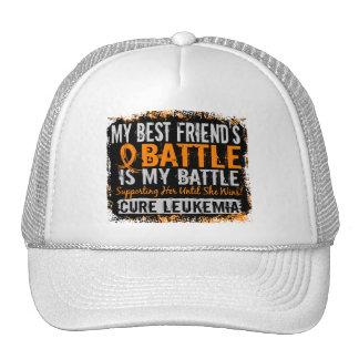 My Battle Too 2 Leukemia Best Friend Female Trucker Hat
