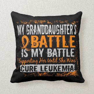 My Battle Too 2 Leukemia Granddaughter Cushion
