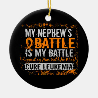 My Battle Too 2 Leukemia Nephew Christmas Ornament