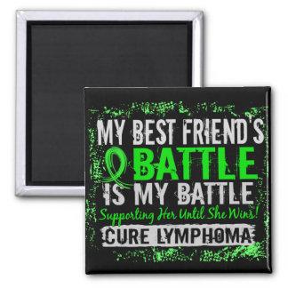 My Battle Too 2 Lymphoma Best Friend Female Fridge Magnets