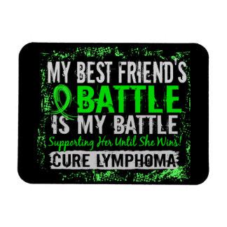 My Battle Too 2 Lymphoma Best Friend Female Magnets