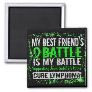 My Battle Too 2 Lymphoma Best Friend Male Fridge Magnet