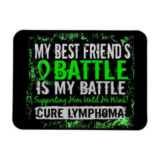 My Battle Too 2 Lymphoma Best Friend Male Rectangular Magnets