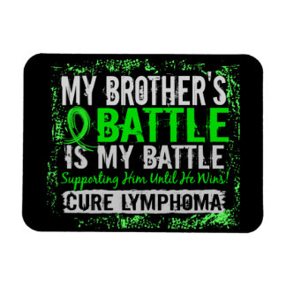 My Battle Too 2 Lymphoma Brother Flexible Magnet