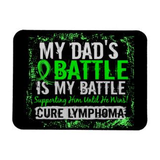 My Battle Too 2 Lymphoma Dad Rectangular Magnet