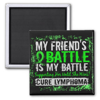 My Battle Too 2 Lymphoma Friend Female Fridge Magnet