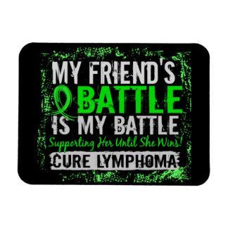 My Battle Too 2 Lymphoma Friend Female Flexible Magnet