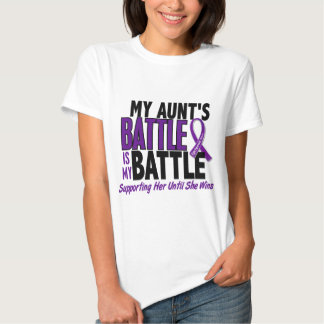 My Battle Too Aunt Pancreatic Cancer Shirt