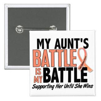 My Battle Too Aunt Uterine Cancer 15 Cm Square Badge