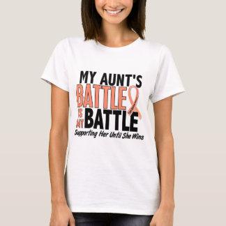 My Battle Too Aunt Uterine Cancer T-Shirt