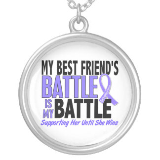 My Battle Too Best Friend (Female) Esophageal Canc Silver Plated Necklace
