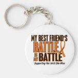 My Battle Too Best Friend Leukaemia Keychains