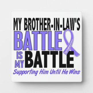 My Battle Too Brother-In-Law Esophageal Cancer Photo Plaque