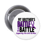 My Battle Too Brother Pancreatic Cancer Buttons