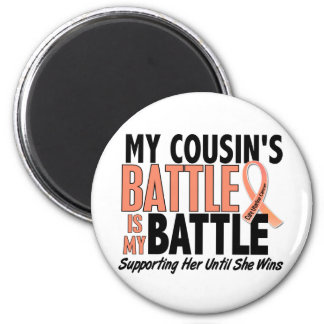 My Battle Too Cousin Uterine Cancer Fridge Magnet