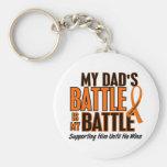My Battle Too Dad Leukaemia Keychains