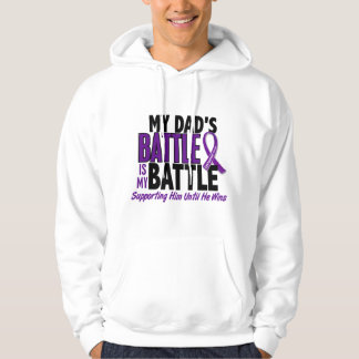 My Battle Too Dad Pancreatic Cancer Hoodie