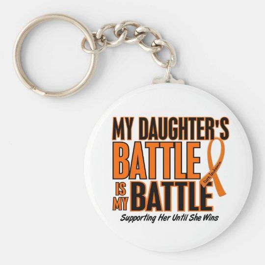 My Battle Too Daughter Leukaemia Basic Round Button Key Ring