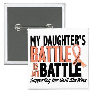 My Battle Too Daughter Uterine Cancer 15 Cm Square Badge