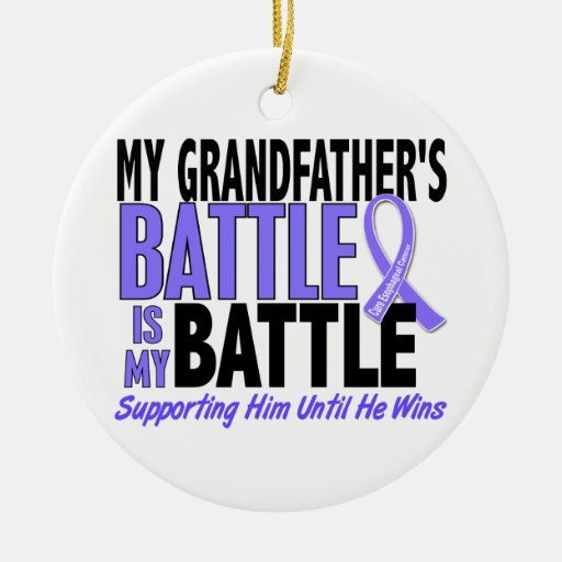 My Battle Too Grandfather Esophageal Cancer Christmas Ornaments