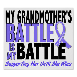My Battle Too Grandmother Esophageal Cancer Poster