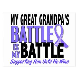 My Battle Too Great Grandpa Esophageal Cancer Postcard