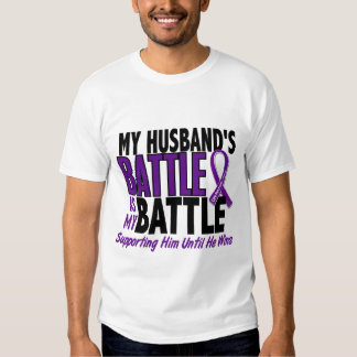 My Battle Too Husband Pancreatic Cancer Tshirt