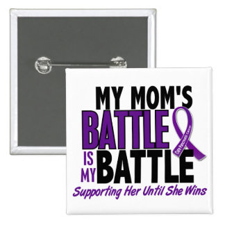 My Battle Too Mom Pancreatic Cancer 15 Cm Square Badge
