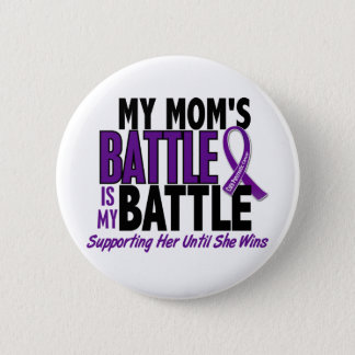 My Battle Too Mom Pancreatic Cancer 6 Cm Round Badge