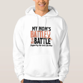My Battle Too Mom Uterine Cancer Hooded Sweatshirt