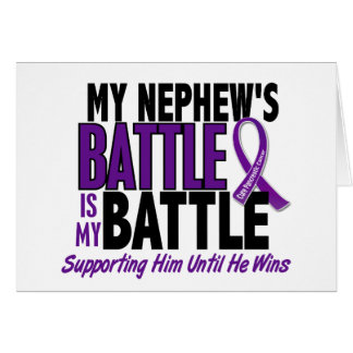 My Battle Too Nephew Pancreatic Cancer Greeting Card