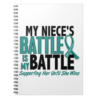 My Battle Too Niece Ovarian Cancer Spiral Note Books
