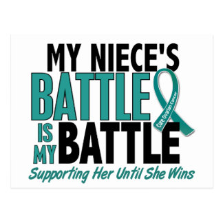 My Battle Too Niece Ovarian Cancer Postcard