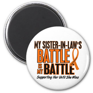 My Battle Too Sister-In-Law Leukemia 6 Cm Round Magnet