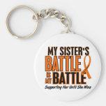My Battle Too Sister Leukaemia Keychains