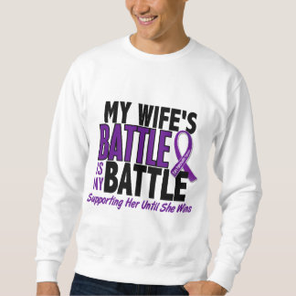 My Battle Too Wife Pancreatic Cancer Pullover Sweatshirt