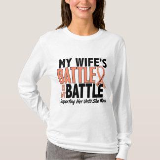 My Battle Too Wife Uterine Cancer T-Shirt