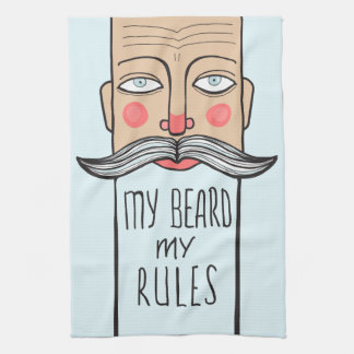 My Beard, My Rules Kitchen Towels
