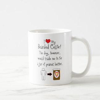 My Bearded Collie Loves Peanut Butter Basic White Mug