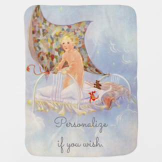 My Bed is a Boat - Vintage picture by Eulalie Pram blanket
